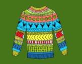 Maglione stampato di lana