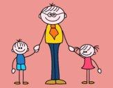 Padre con i bambini