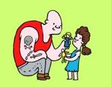 Padre con i tatuaggi