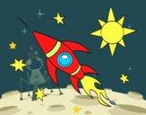 Un razzo aerospaziale