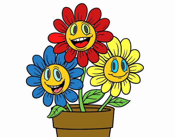 Disegno un vaso di fiori colorato da utente non registrato for Vaso di fiori disegno