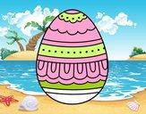 Uovo di Pasqua bianco e nero