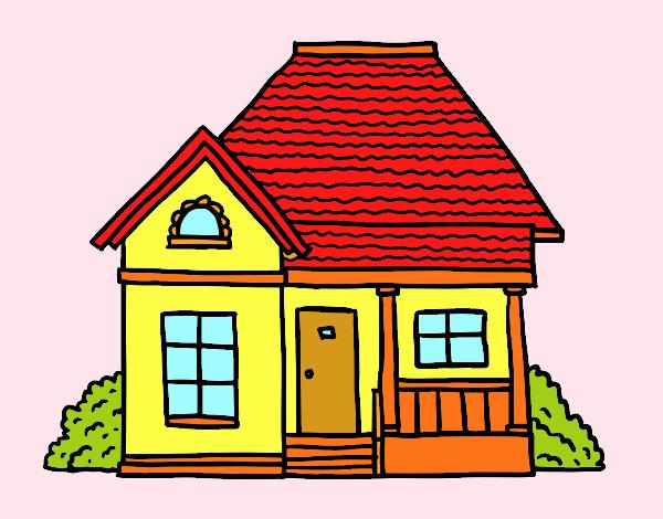 Disegno casetta di campo colorato da utente non registrato for Casa disegno