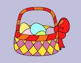 Cestino con uovo di Pasqua