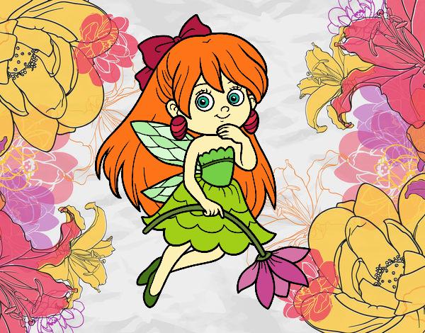 Disegno Fata Fiore Colorato Da Utente Non Registrato Il 23 Di Marzo