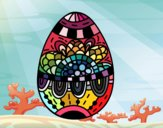Un uovo di Pasqua floreale