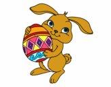 Coniglio con uovo di Pasqua