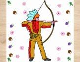 Indiano con l'arco