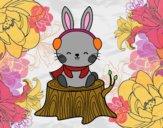 Coniglio selvatico riparato