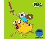 Jake e Finn ad attaccare