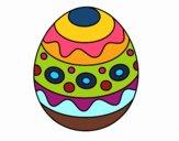 Un uovo di Pasqua con motivi