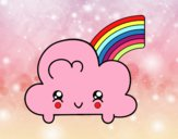 Cloud con arcobaleno Kawaii