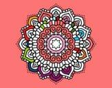 Mandala stella decorata