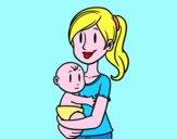 In braccia della mamma