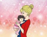 Madre prendendo il bambino