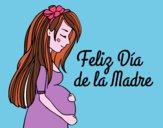 Mamma incinta il giorno della madre