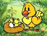 Mamma uccello