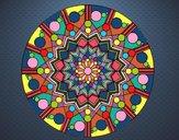 Mandala fiore con cerchio