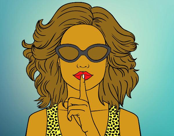 più amato 98b8f 85939 Disegno Ragazza con gli occhiali da sole colorato da Utente ...