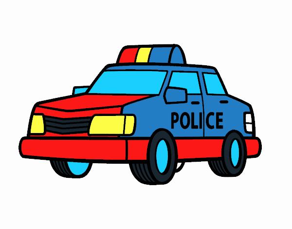 Disegno Una Macchina Della Polizia Colorato Da Utente Non