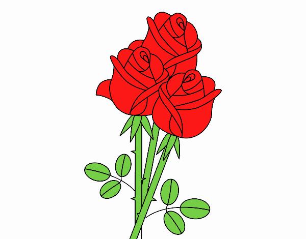 Mazzo Di Fiori Da Colorare: Disegno Un Mazzo Di Rose Colorato Da Utente Non Registrato
