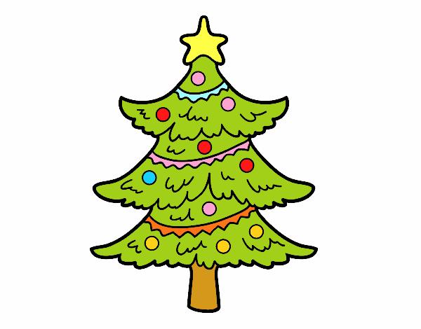 Disegni Alberelli Di Natale.Disegno Albero Di Natale Decorato Colorato Da Utente Non