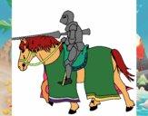 Cavallerizzo in piena lotta
