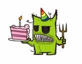 Mostro torta di compleanno