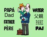 Padre e figlio con il cappello