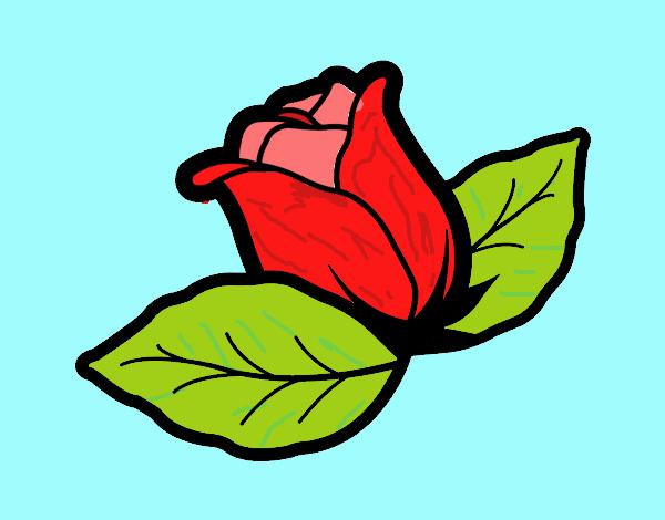 Disegno Rosa Con Foglie Colorato Da Utente Non Registrato Il 19 Di