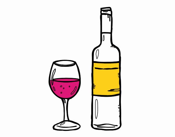 Disegno Bottiglia Di Vino E Di Vetro Colorato Da Utente Non Registrato Il 25 Di Agosto Del 2019