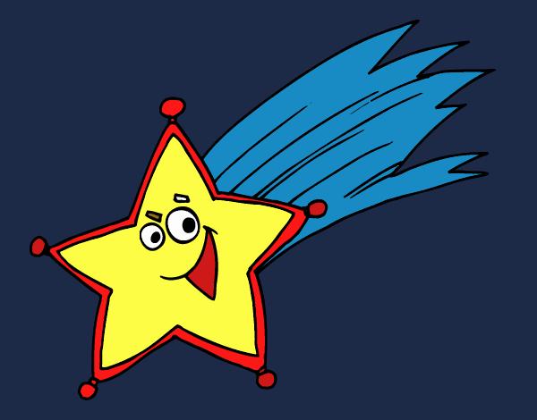 Stella Cadente Di Natale.Disegno Stella Cadente Colorato Da Utente Non Registrato Il 13 Di Dicembre Del 2019