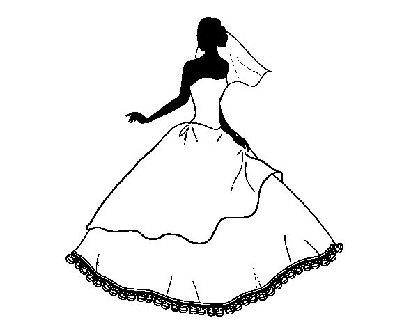Disegno Di Abito Da Sposa Da Colorare Acolore Com