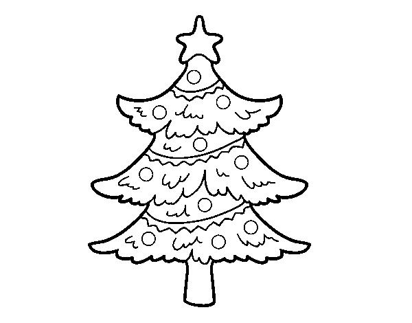 Disegno Di Albero Di Natale Decorato Da Colorare Acolorecom