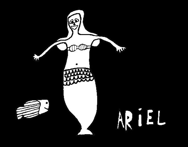 Disegno Di Ariel E Pesce Da Colorare Acolorecom