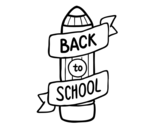 Disegno di Back to School da colorare