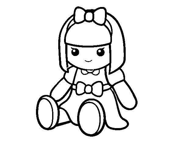 Bambola Da Colorare.Disegno Di Bambola Di Pezza Da Colorare Acolore Com