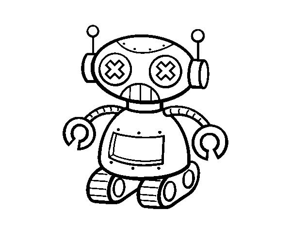 Robot Disegni Da Colorare.Disegno Di Bambola Robotica Da Colorare Acolore Com