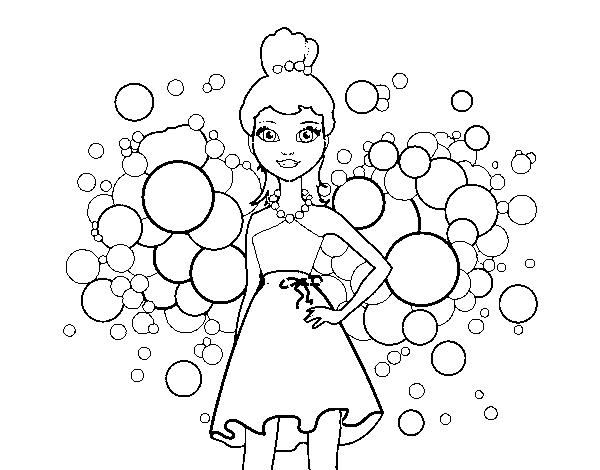 Disegno Di Barbie Principessa Rosa Da Colorare Acolorecom