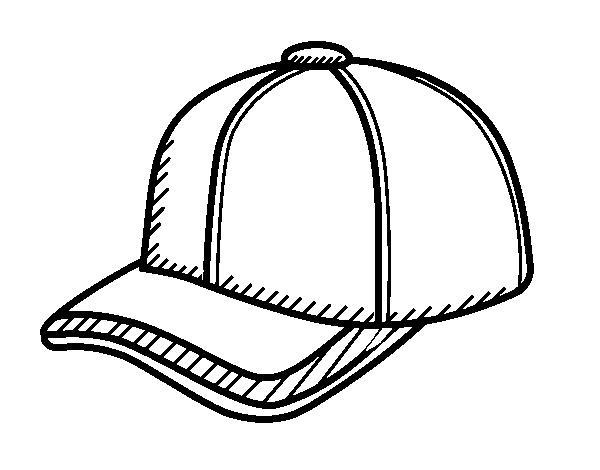 disegno di cappello da sportivo da colorare