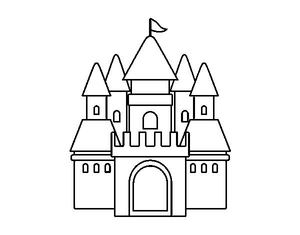 Disegno Di Castello Medievale 2 Da Colorare Acolorecom