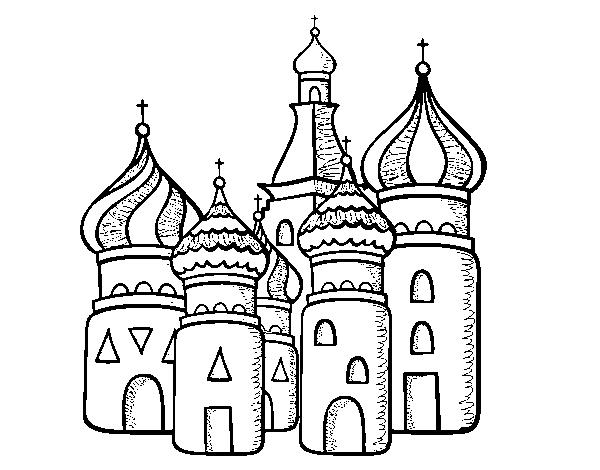 Disegno Di Cattedrale Di San Basilio Di Mosca Da Colorare