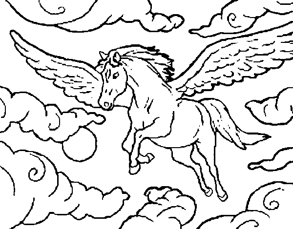 Disegno Di Cavalli Alati Da Colorare Acolore Com
