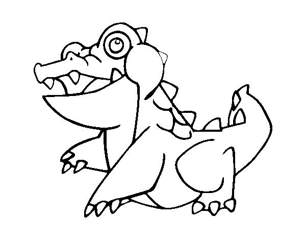 Disegno di coccodrillo marino da colorare for Coccodrillo da colorare