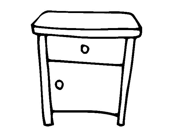 Disegno Di Comodino Da Colorare Acolorecom
