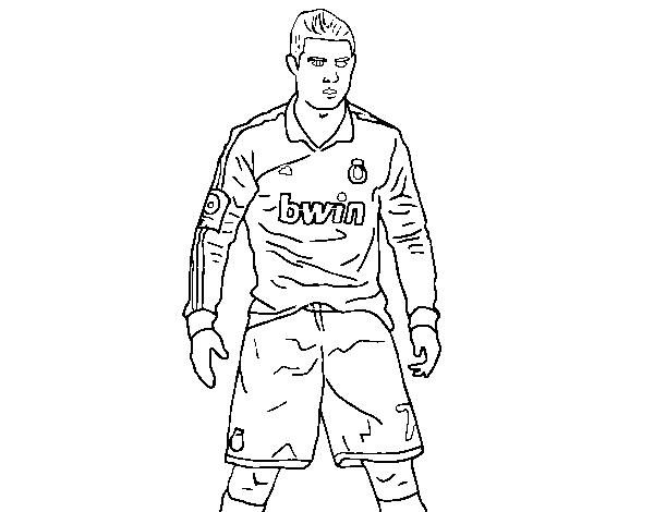 Disegno Di Cristiano Ronaldo Real Madrid Da Colorare Acolorecom