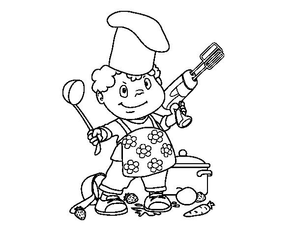Disegno Di Cuoco Bambino Da Colorare Acolorecom