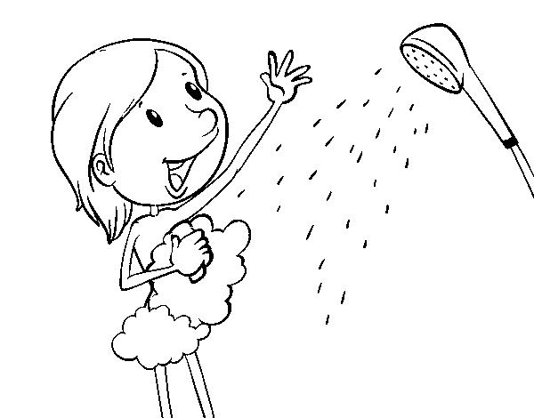 Disegno Bagno Da Colorare : Disegno di doccia da colorare acolore