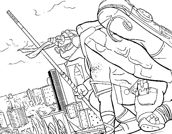 Disegno Di Donatello Ninja Turtles Da Colorare Acolore Com