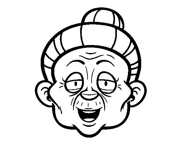 Disegno Di Faccia Da Nonna Da Colorare Acolorecom